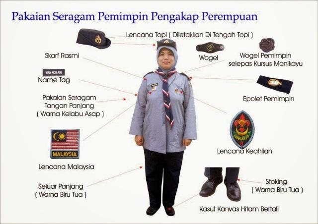 Seragam Pemimpin Pengakap Perempuan